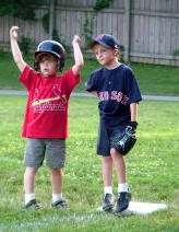 Baseball kids - cheering and jeering by Horton