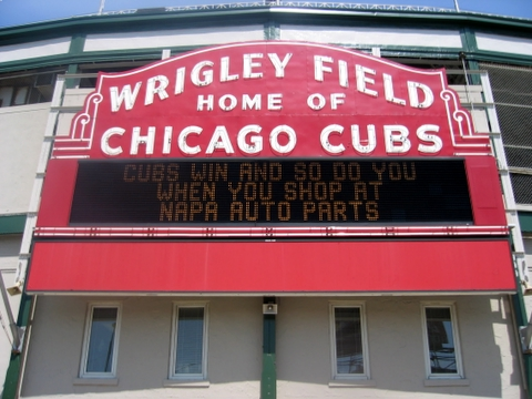 Welcome to Wrigley Field Home of the Chicago Cubs sign