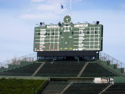 Wrigley Field Manual Scoreboard